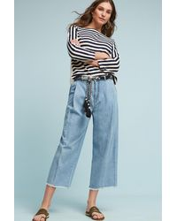 Pilcro - High-rise Wide-leg Cropped Jeans - Lyst