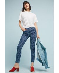 Pilcro - Leopard Mid-rise Skinny Jeans - Lyst