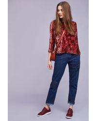 Pilcro - Embroidered Boyfriend Jeans - Lyst