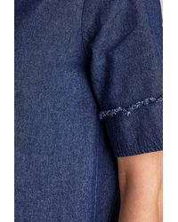 Loup - Leslie Denim Shirtdress, Blue - Lyst