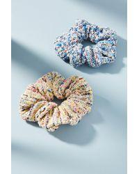 Anthropologie - Tweed Scrunchie Set - Lyst