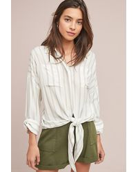 Anthropologie - Philippa Belted-utility Shorts - Lyst