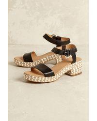 Hudson Jeans - Amalia Leather Platform Sandals - Lyst