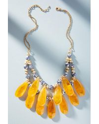 Anthropologie - Golden Hour Bib Necklace - Lyst