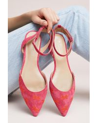 73f864b2ce0d Anthropologie - Embroidered Bow Ballet Flats - Lyst