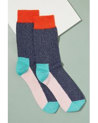 Anthropologie - Catherine Tough Colourblock Ankle Socks - Lyst