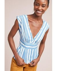 Tracy Reese - Aimee Striped Blouse - Lyst