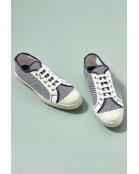 Bensimon - Doma Striped-canvas Trainers - Lyst