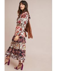 Hemant & Nandita - Printed Tiered-hem Maxi Dress - Lyst