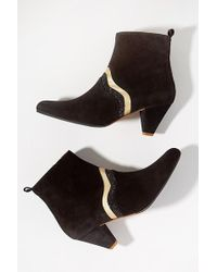 Emma Go - Leather-trimmed Ankle Boots - Lyst