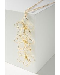 Anthropologie - Falling Flowers Pendant Necklace - Lyst