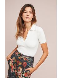 Moth - Collared Pullover Top - Lyst