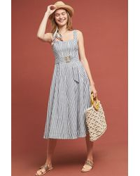 515c08e7b3a5 Maeve - Caitlin Belted-striped Midi Dress - Lyst