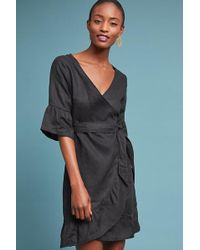 39d4cf266c30 Anthropologie Soiree Embroidered Dress in Black - Lyst
