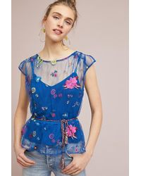 Plenty by Tracy Reese - Burnell Embroidered Blouse - Lyst