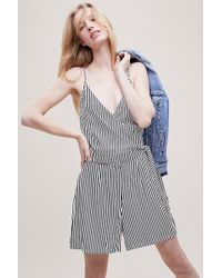 Just Female - Striped-wrap Playsuit - Lyst