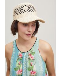 Anthropologie - Engla Straw Baseball Cap - Lyst