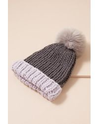 Anthropologie - Brida Pommed Beanie - Lyst