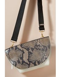 Anthropologie - Snake-effect Leather Crossbody Bag - Lyst