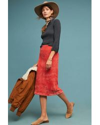 Anthropologie - Corduroy Pencil Skirt - Lyst