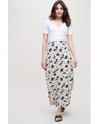 SELECTED - Justina Printed-wrap Skirt - Lyst