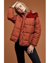 Maison Scotch - Velvet-trim Puffer Jacket - Lyst