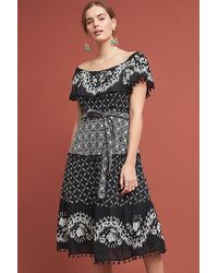 215f7a436330 Anthropologie - Florina Embroidered-pommed Midi Dress - Lyst