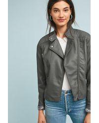 Anthropologie - Vegan Leather Moto Jacket - Lyst