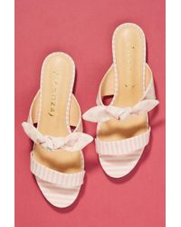 Vicenza - Striped + Dotted Slide Sandals - Lyst