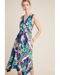 a850d2477168 Maeve - Iyanla Mix-print Wrap Dress - Lyst