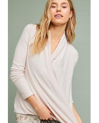 Anthropologie - Clayton Brushed Fleece Wrap Top - Lyst