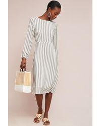 Second Female - Striped Silk Dress - Lyst