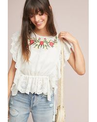 d.RA - Polly Eyelet-embroidered Top - Lyst