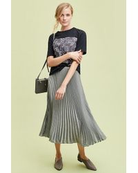Anthropologie - Coppelia Pleated Shine Skirt - Lyst
