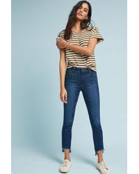 PAIGE - Hoxton High-rise Skinny Fray Petite Jeans - Lyst