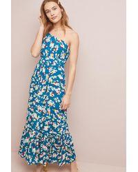 ab0dd057247ec Anthropologie - Gemma Floral-print One-shoulder Maxi Dress - Lyst