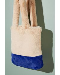 Anthropologie - Mabel Colourblocked Faux-fur Tote - Lyst
