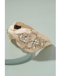 Anthropologie - Elin Floral-jacquard Embellished Headband - Lyst