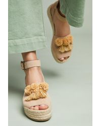Soludos - X Anthropologie Panarea Wedge Sandals - Lyst