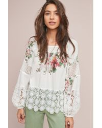 Tracy Reese - Stacey Floral-embroidered Blouse - Lyst
