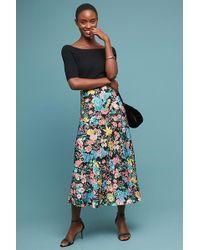 Anthropologie - Gemma Printed Bias-cut Midi Skirt - Lyst
