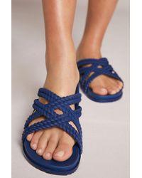 Melissa   Braided Slide Sandals   Lyst
