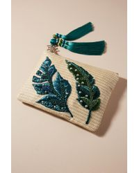 Anthropologie - Waving Palms Embellished Clutch - Lyst