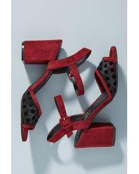 Anthropologie - Matisse Bondi Polka Dot Heels - Lyst