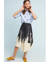 Eva Franco - Golden Graphic Skirt - Lyst