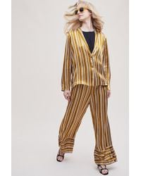 Second Female - Sorayah Striped Wide-leg Trousers - Lyst