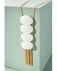Anthropologie - Tumbled Stone Ladder Pendant Necklace - Lyst