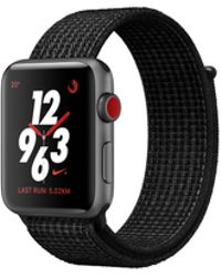 Apple - Watch Nike+ Gps + Cellular 42mm Aluminium Case Space Grey With Black/pure Platinum Nike Sport Loop - Lyst