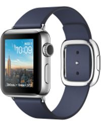 Apple - Watch Series 2, 38mm Stainless Steel Case With Midnight Blue Modern Buckle - Large - Lyst