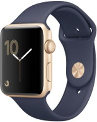 Apple - Watch Series 1, 42mm Gold Aluminium Case With Midnight Blue Sport Band - Lyst